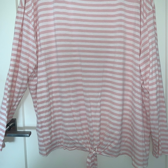 torrid Tops - Pink and White Long Sleeve Tee from Ava & Viv